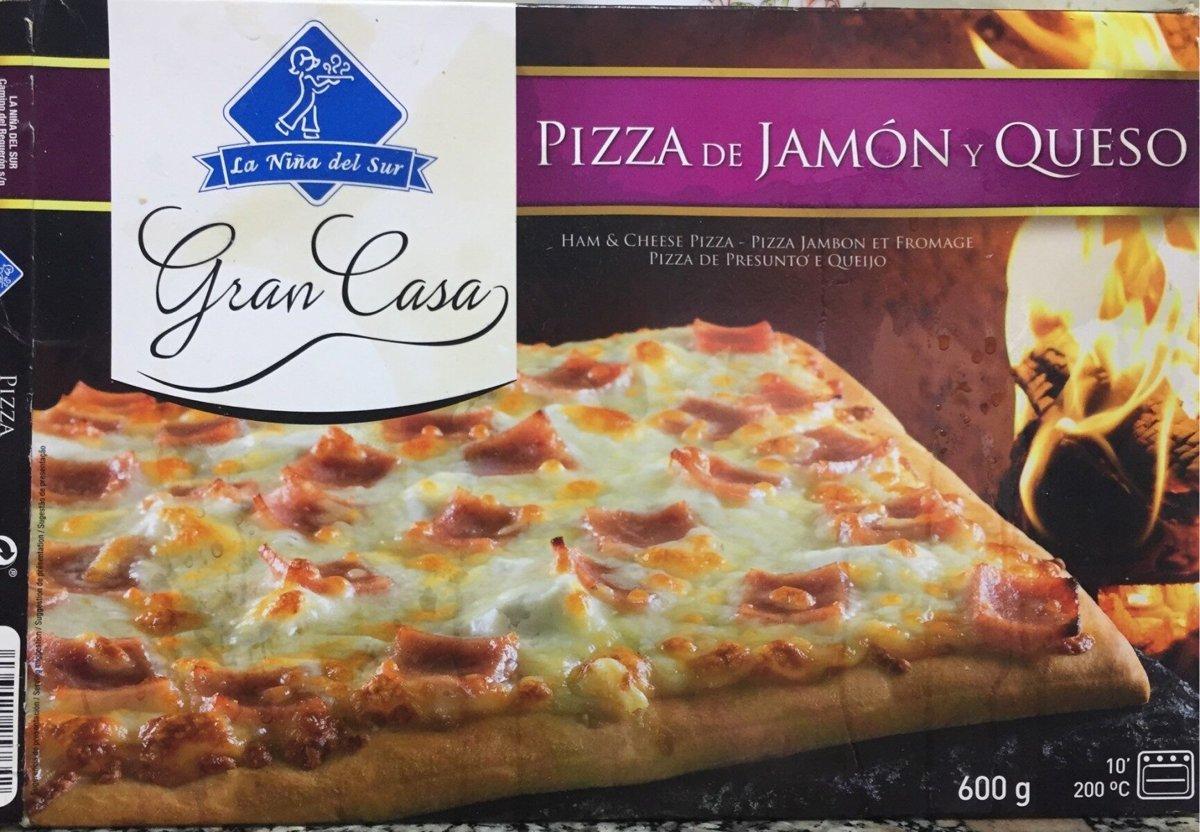 Pizza Gran Casa Jamón y Queso