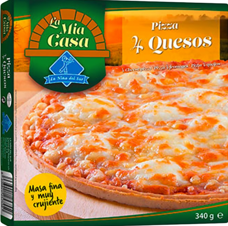Pizza 4 Quesos 340g.