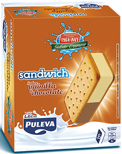 Sandwich Vainilla y Chocolate Pack 6 Uds