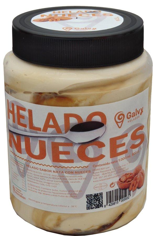 Tarro Helado Nueces. 1 L