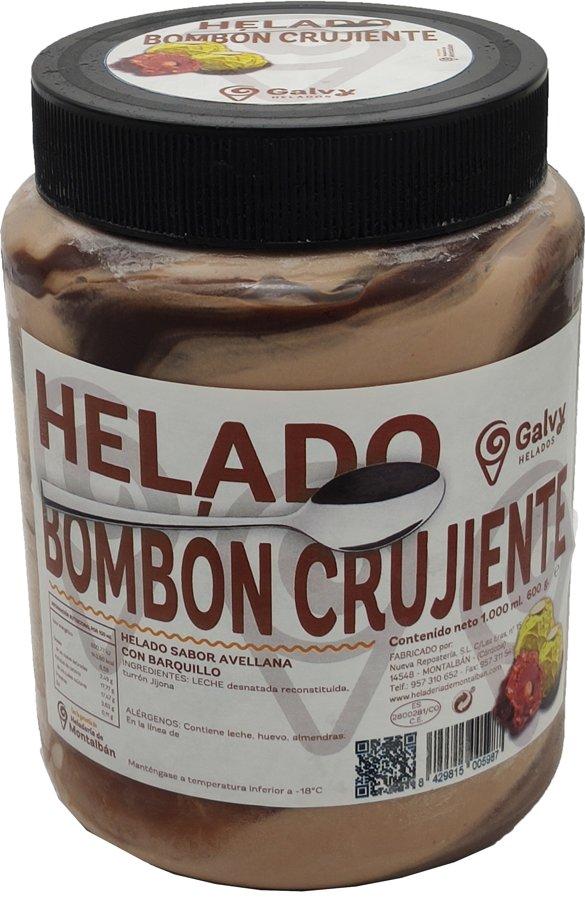 Tarro Helado Bombón Crujiente. 1 L