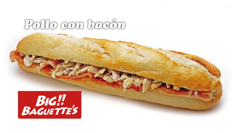 Baguette de Pollo con Bacon