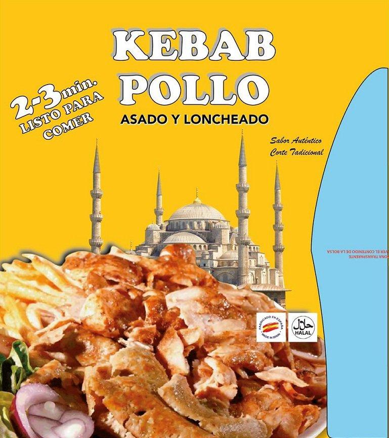 Kebab de Pollo Loncheado. 1 Kg