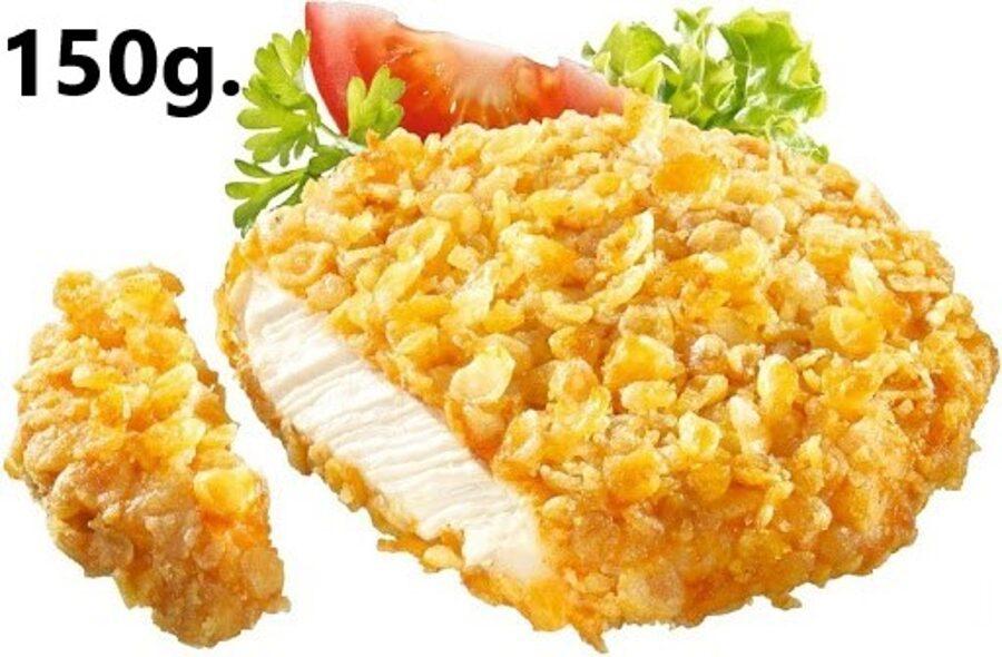 Hamburguesa 150g de Pollo Crujiente Corn Flakes. (Bolsa de 1 Kg.)