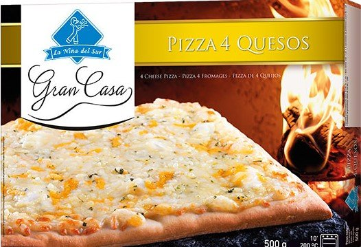 Pizza Gran Casa Cuatro Quesos. 600g