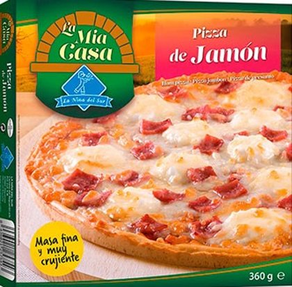 Pizza Jamón Mia Casa 360g.